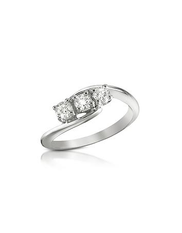 Forzieri - 0.315 ct Three-Stone Diamond 18K Gold Ring