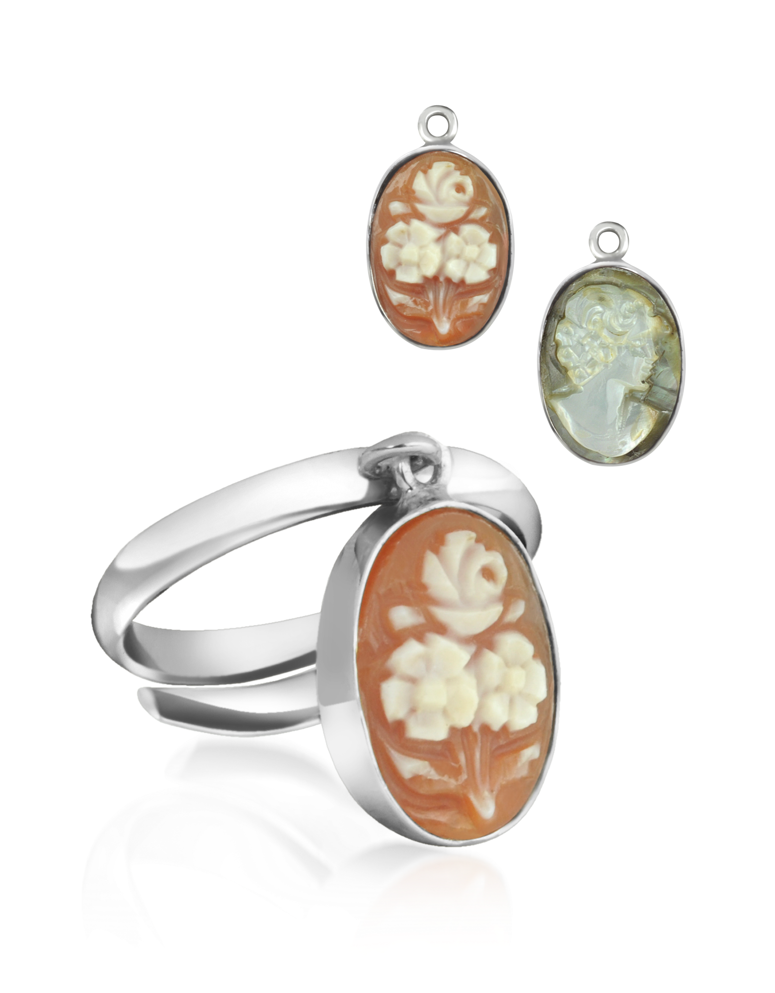 Image of Cameo Charm Ring
