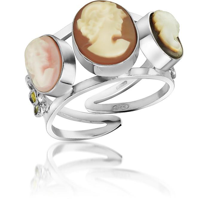 Cameo Trio Ring - Mia & Beverly