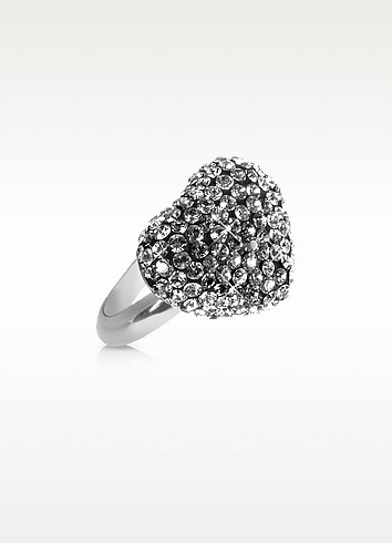 Fantasmania - Crystal Black Heart Ring - Gisèle St.Moritz