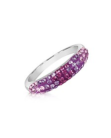Phantasya Line - Bague avec cristaux Swarovski violets - Gisèle St.Moritz