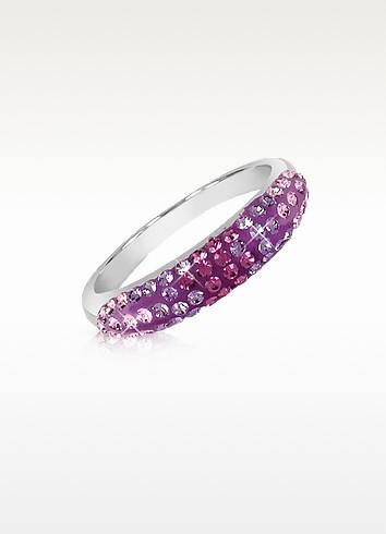 Fantasmania - Purple Crystal Band Ring - Gisèle St.Moritz