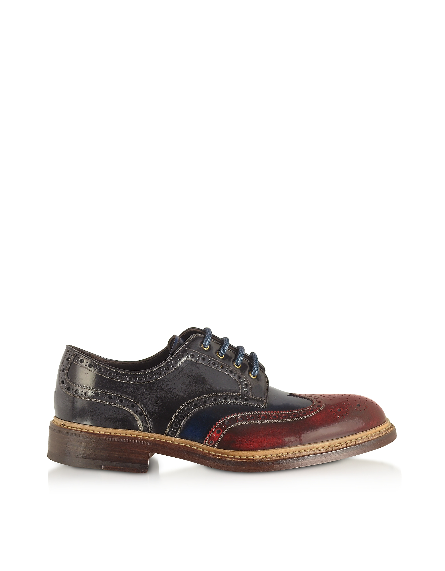 Forzieri Shoes, Multicolor Wingtip Derby Shoes
