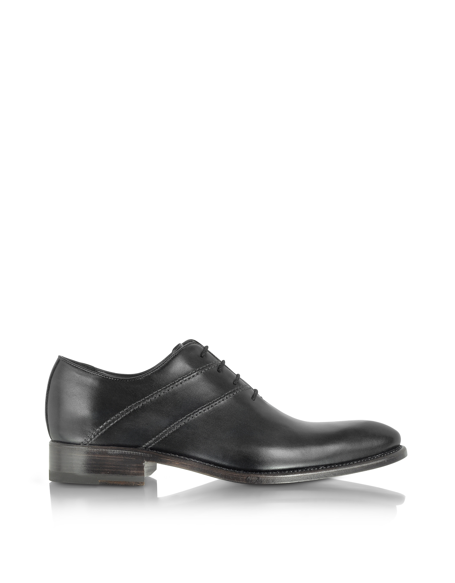 Forzieri Shoes, Black Italian Handcrafted Leather Oxford Dress Shoes