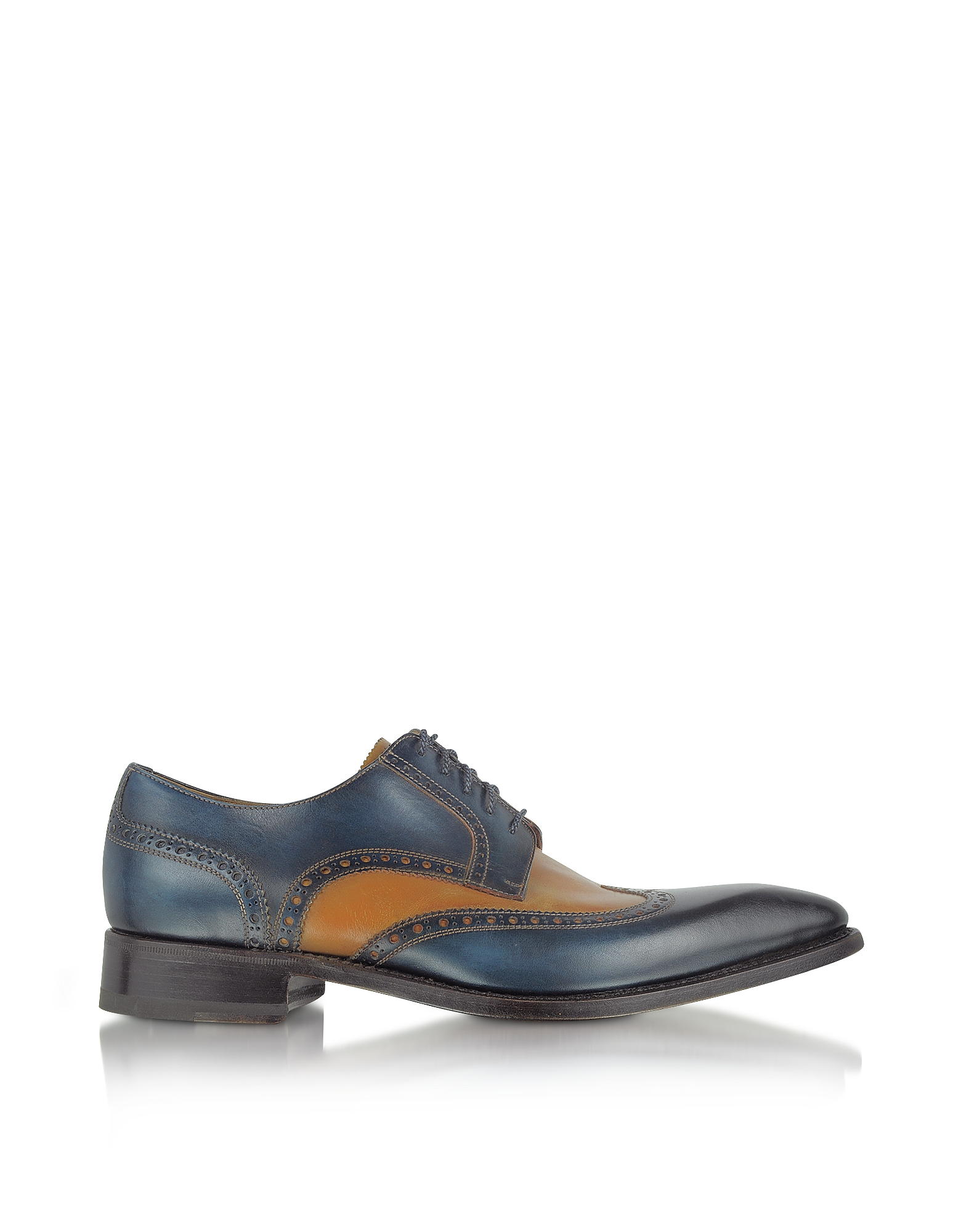 Forzieri Shoes, Two-Tone Handcrafted Leather Wingtip Oxford Shoes