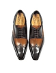 Two-Tone Italian Handcrafted Leather Wingtip Oxford Shoes - Forzieri