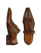 Lux-ID 208068 Dark Brown Italian Handcrafted Leather Oxford Shoes