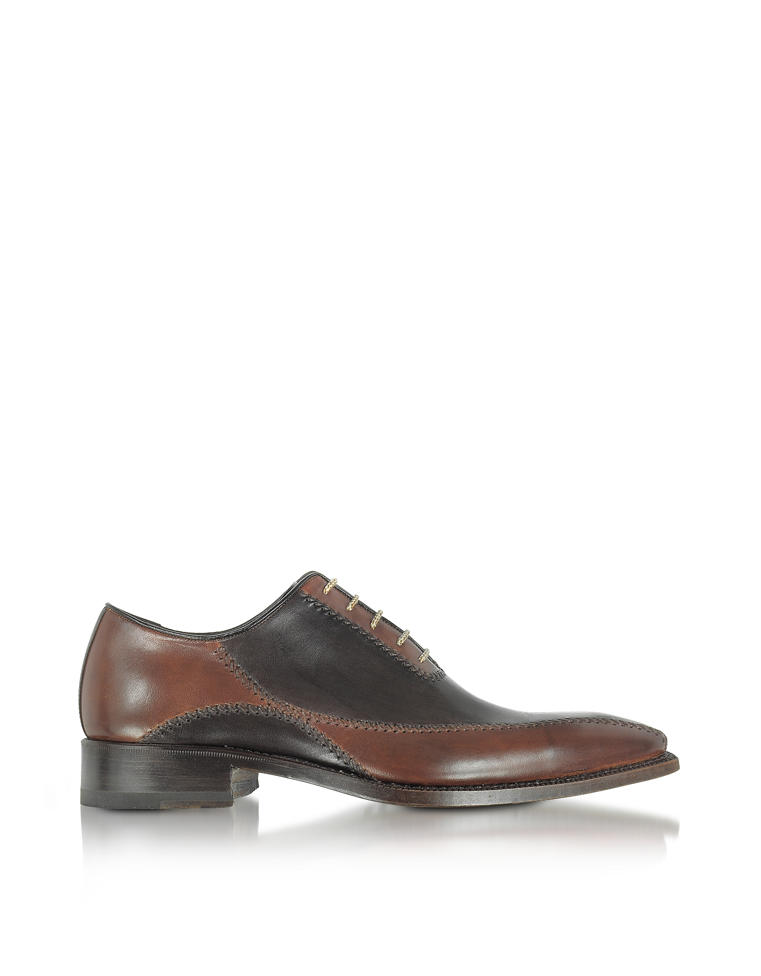 Forzieri Shoes, Dark Brown Italian Handcrafted Leather Oxford Shoes