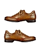 Men's Brown Handmade Italian Leather Lace-up Shoes - Forzieri