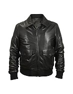 Lux-ID 208489 Men's Black Leather Motorcycle Jacket