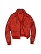 Women's Red Leather Bomber Jacket - Forzieri