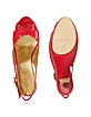 Red Patent Leather Platform Slingback Shoes - Forzieri