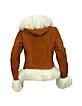 Women's Mongolian Fur-Trim Shearling Hooded Jacket - Forzieri