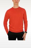 50%OFF <フォルツィエリ> Forzieri / フォルツィエリ メンズコーラルレッドカシミヤクルーネックセーター /メンズ セーター画像
