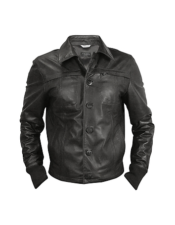 Black Men's Leather Jacket