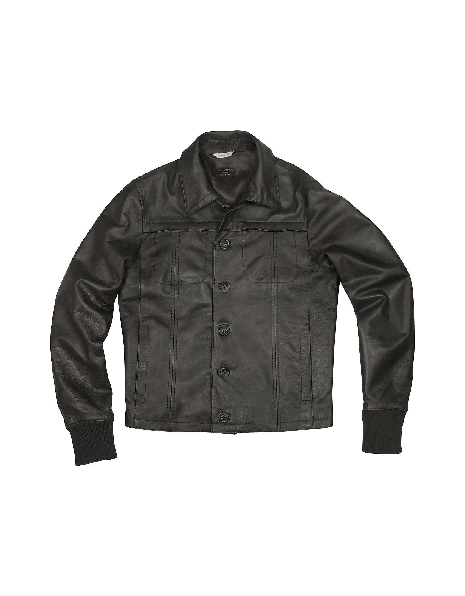 Black Men's Leather Jacket от Forzieri.com INT