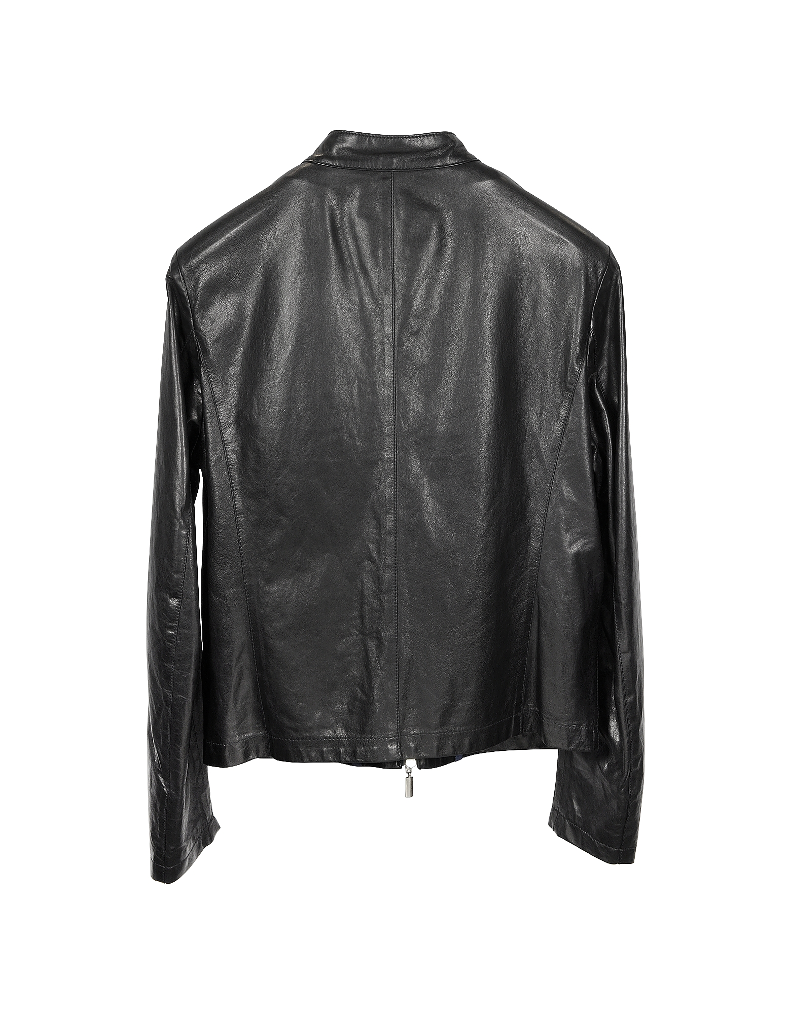 Black Leather Motorcycle Men's Jacket от Forzieri.com INT