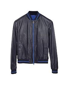 Роскошная Темно-синяя Мужская Куртка с Капюшоном - Forzieri