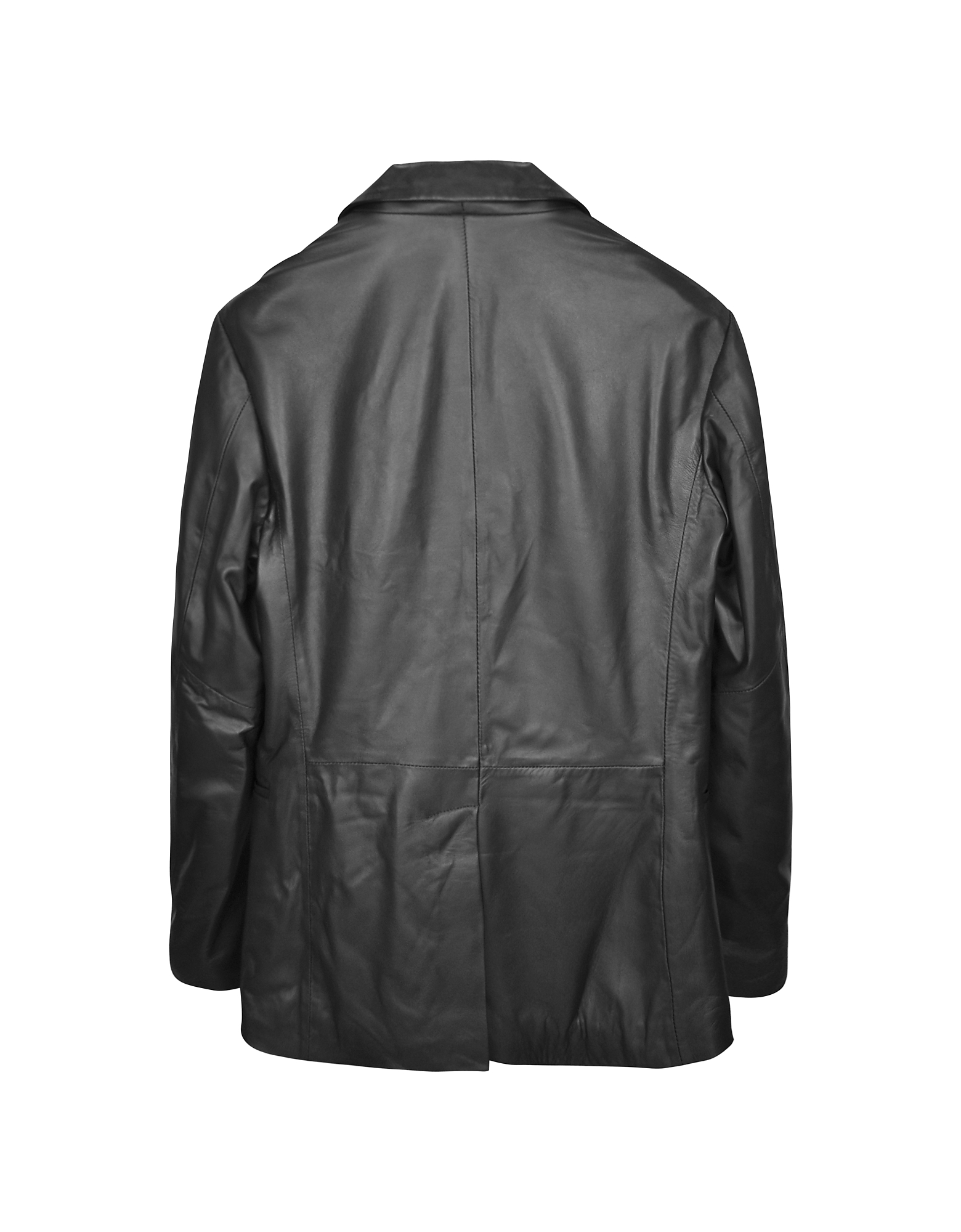 Black Leather Men's Blazer от Forzieri.com INT