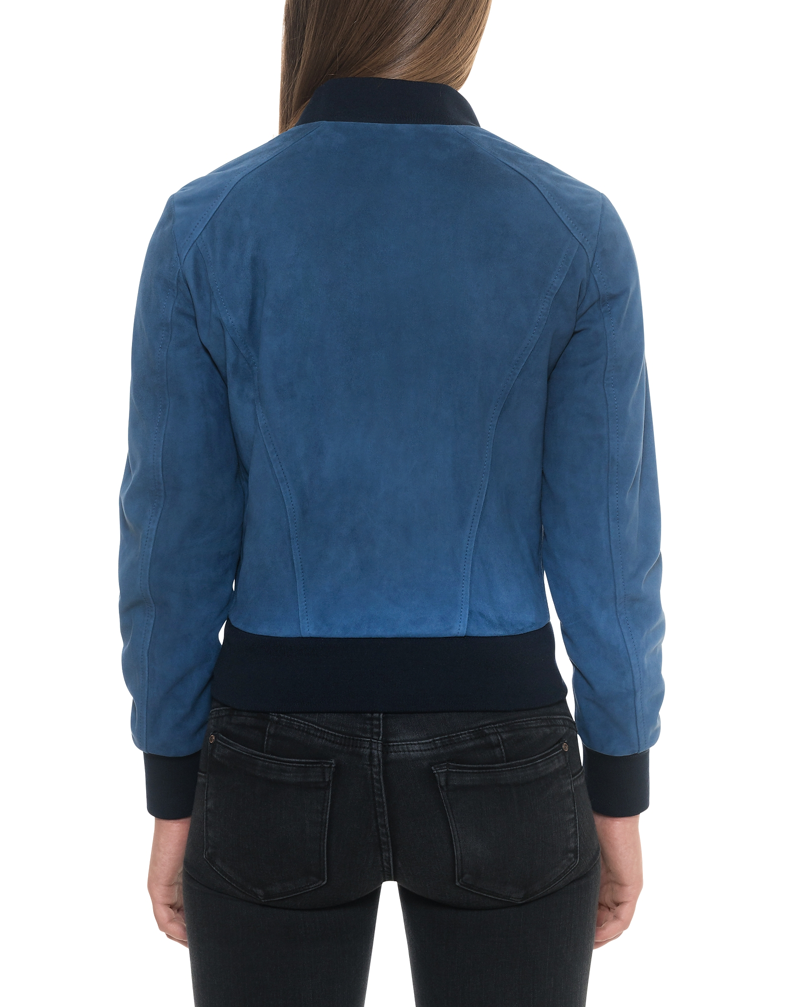 Blue Suede Women's Bomber Jacket от Forzieri.com INT