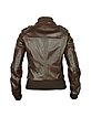 Women's Dark Brown Lizard Stamped Genuine Leather Jacket - Forzieri