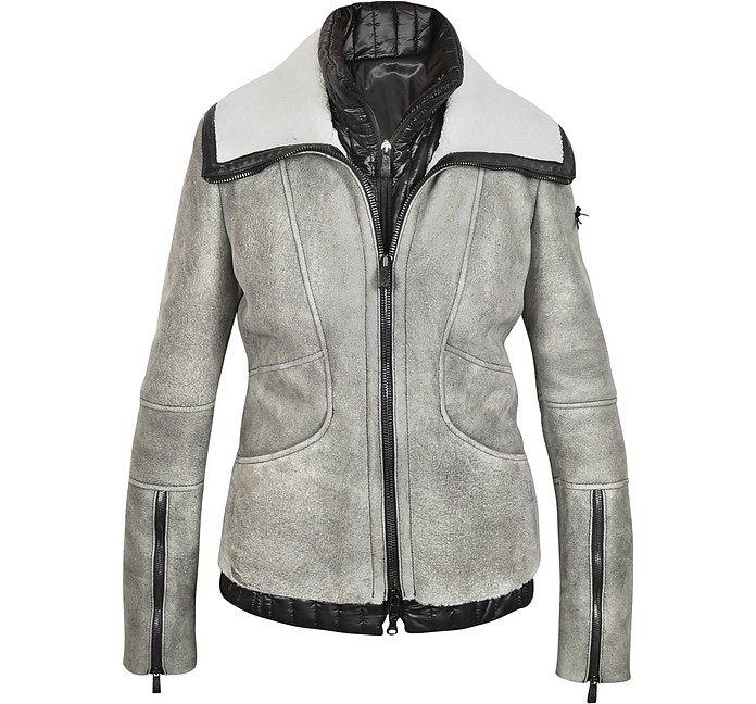 Gray Shearling w/Detachable Puffer Vest - Forzieri