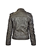 Dark Brown Asymetrical Zip Leather Motorcycle Jacket - Forzieri