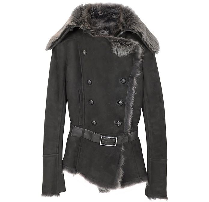 Fur-Trim Shearling Jacket - Forzieri