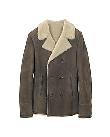 Double Breasted Shearling Jacket - Forzieri