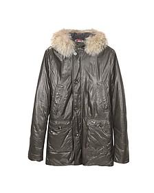 Мужское Кожаное Пальто с Капюшоном - Forzieri