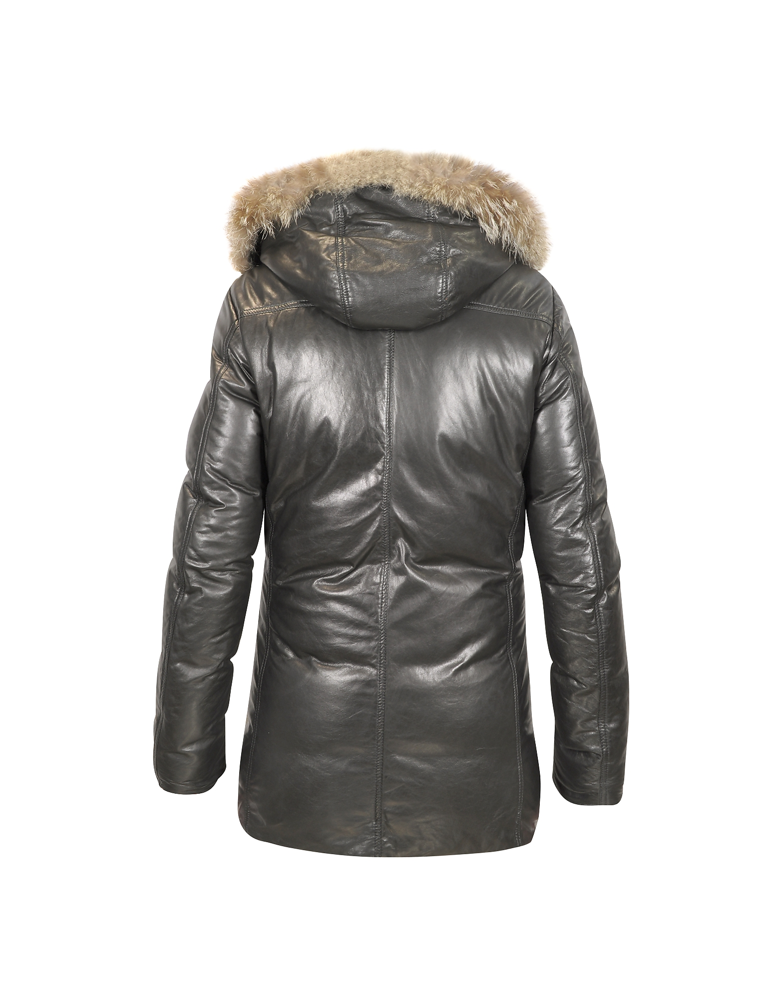 Men's Hooded Leather Car Coat от Forzieri.com INT