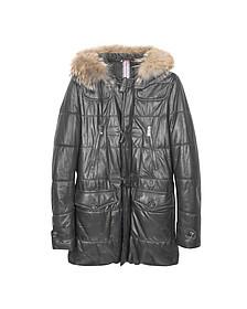 Черное Кожаное Пальто Монтгомери - Forzieri