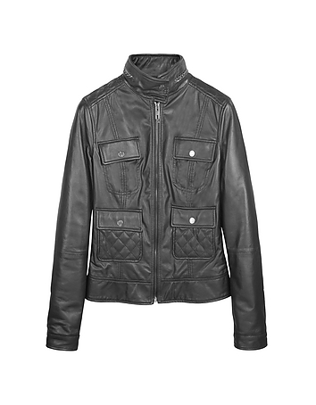 Black Motorcycle Leather Jacket