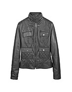 Lux-ID 208473 Black Motorcycle Leather Jacket