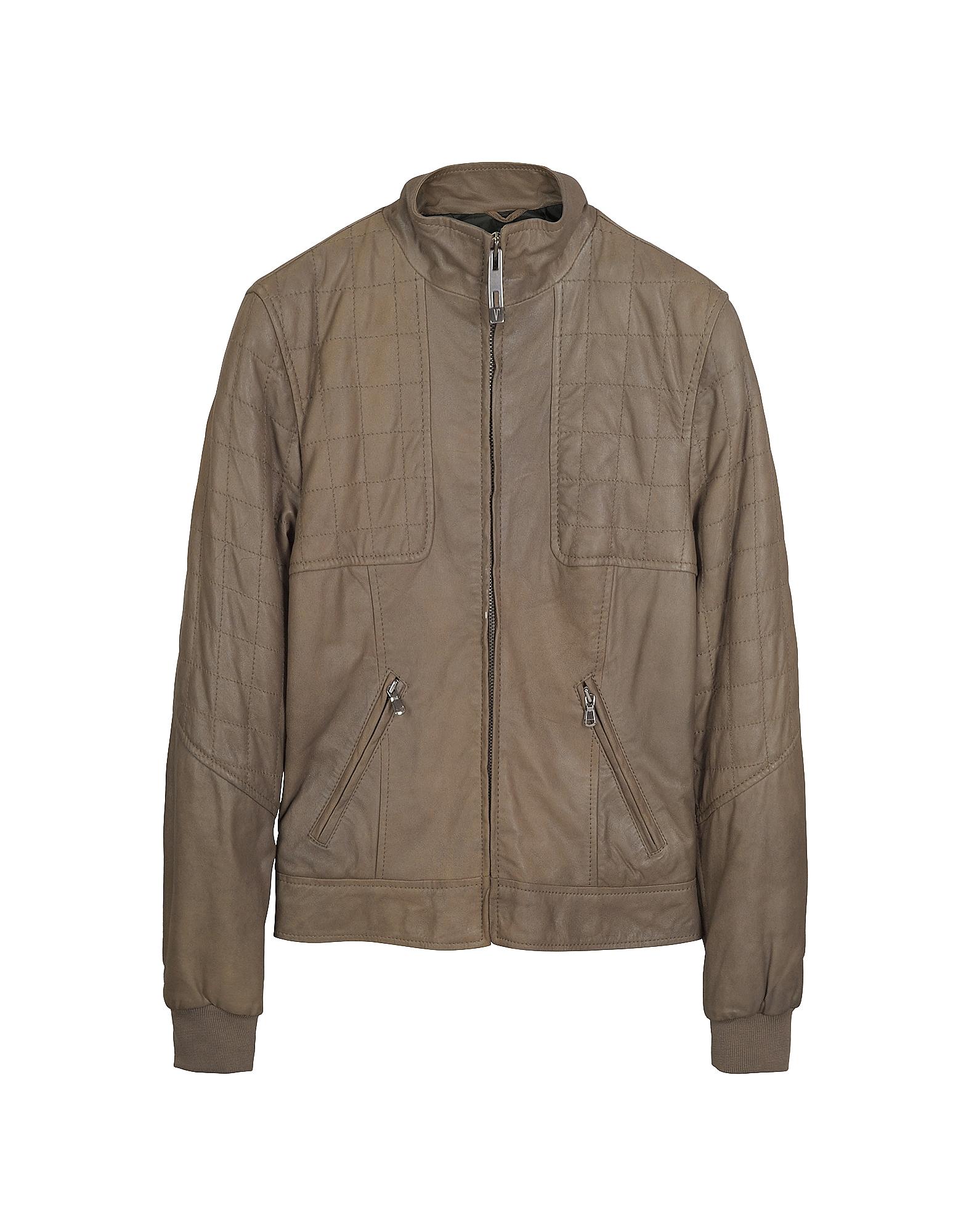 Светло-коричневая Куртка на Молнии