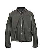 Lux-ID 208465 Black Python and Calfskin Motorcycle Jacket