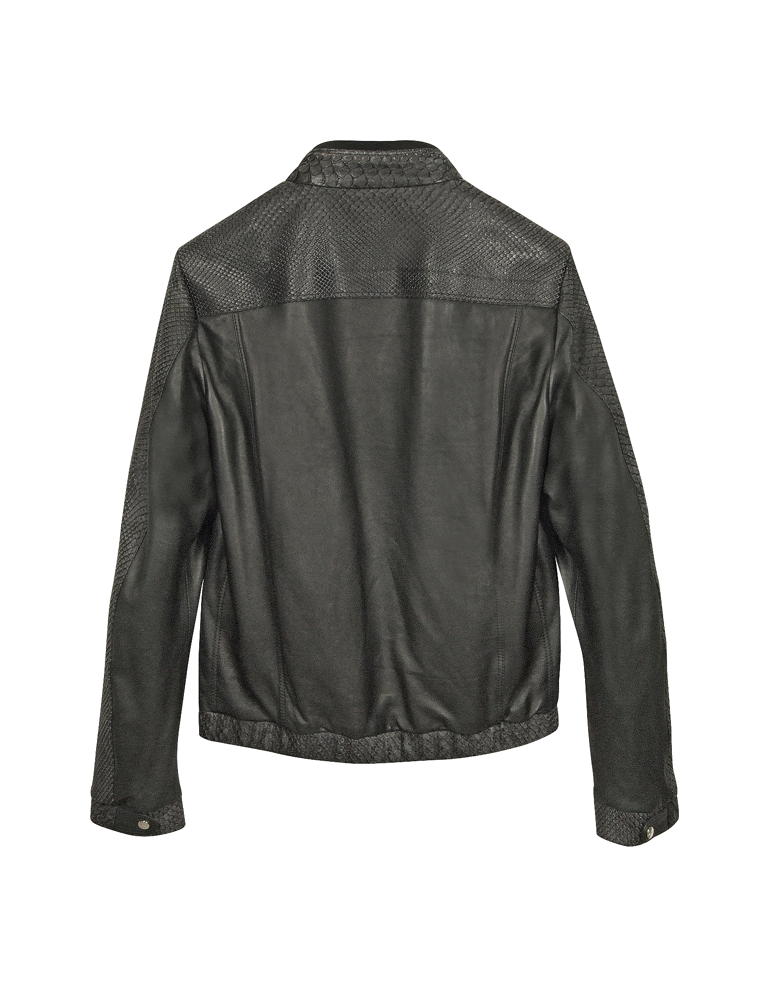 Black Python and Calfskin Motorcycle Jacket от Forzieri.com INT