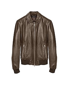 Bomber in Pelle Marrone  - Forzieri