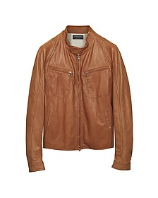 Tan Leather Motorcycle Jacket - Forzieri