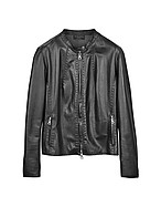 Lux-ID 208462 Black Leather Motorcycle Jacket