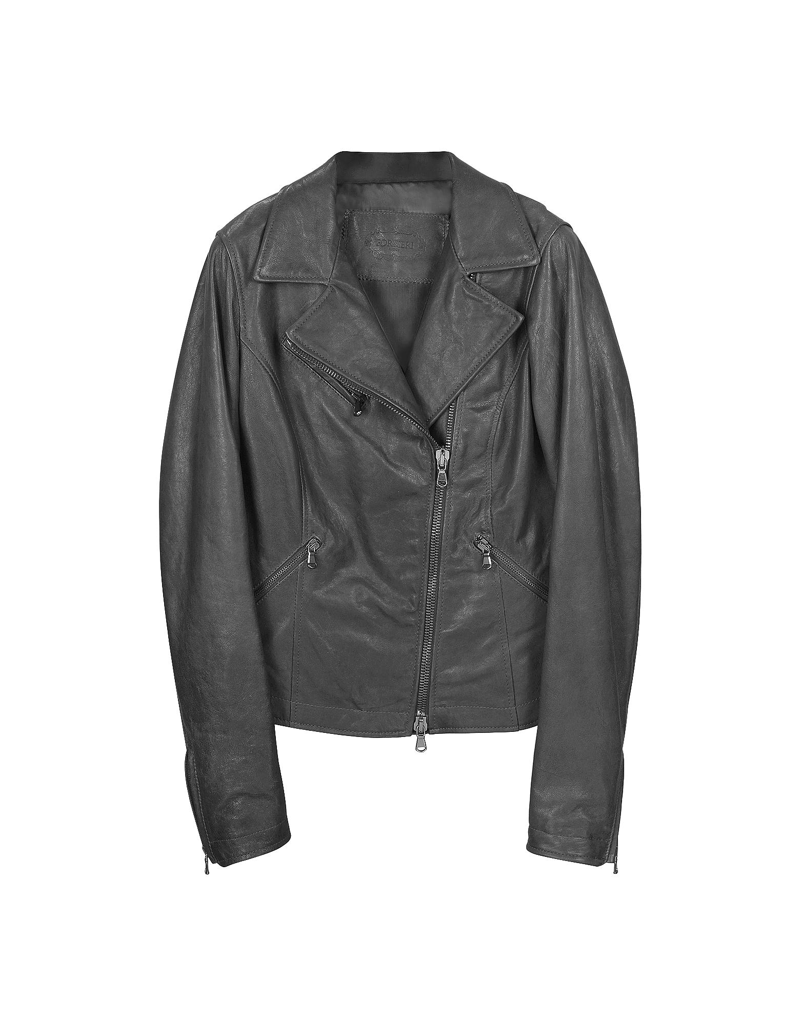 Черная Кожаная Куртка в Мото Стиле