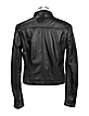 Black Genuine Leather Motorcycle Zip Jacket - Forzieri