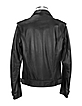 Black Genuine Italian Leather Motorcycle Zip Jacket - Forzieri
