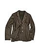 Women's Dark Brown Leather Three-Button Jacket - Forzieri
