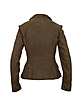 Women's Dark Brown Leather Fitted Jacket - Forzieri