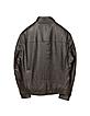 Men's Dark Brown Leather Motorcycle Jacket - Forzieri