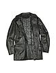 Men's Black Leather Jacket - Forzieri