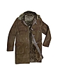 Detachable Hood Men's Dark Brown Shearling Coat - Forzieri