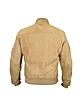 Men's Light Brown Suede Zip Jacket - Forzieri