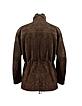 Men's Brown Four Pocket Italian Suede Leather Jacket - Forzieri